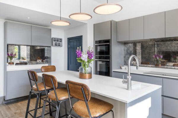 Dekton Zenith light kitchen decor