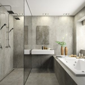 Dekton Keon bathroom flooring and cladding