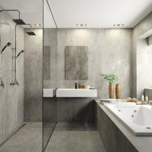 Dekton Keon bathroom flooring and cladding