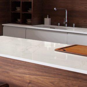 Dekton Glacier kitchen worktop
