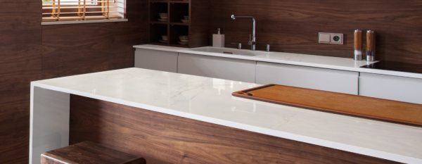 Dekton Glacier kitchen worktop