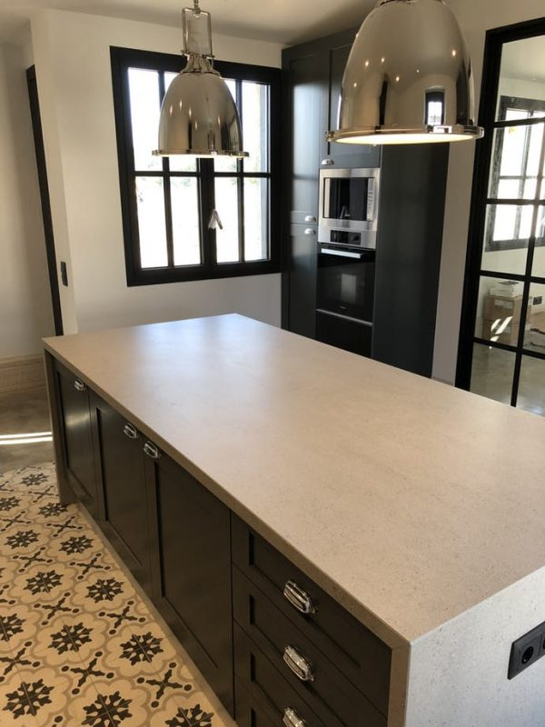 Dekton Strato kitchen island