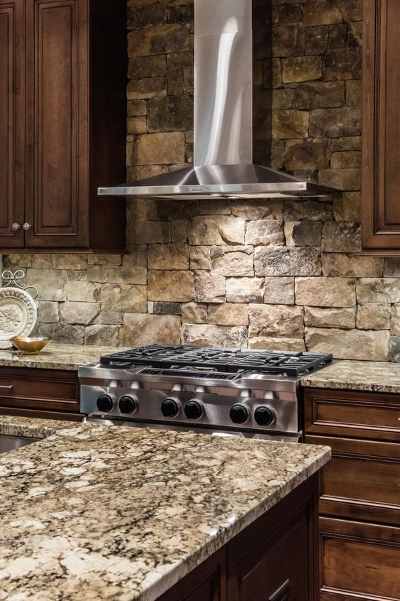 stone stacked granite worktop