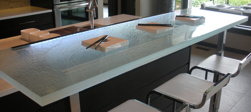 Glass worktop for your kitchen