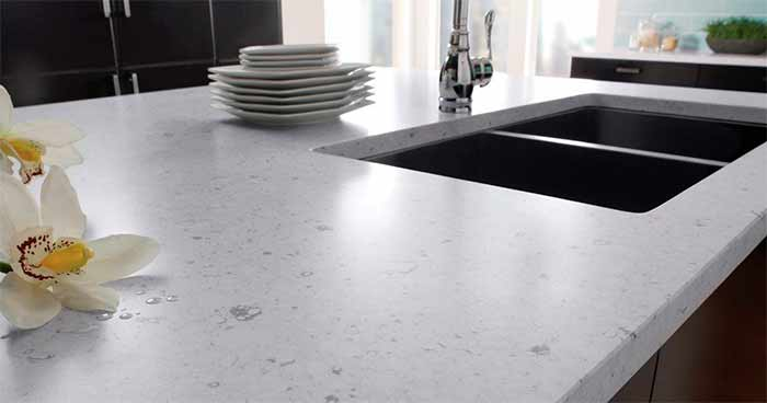 white silestone quartz worktops