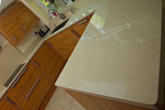Bespoke fitted marble kitchen worktops