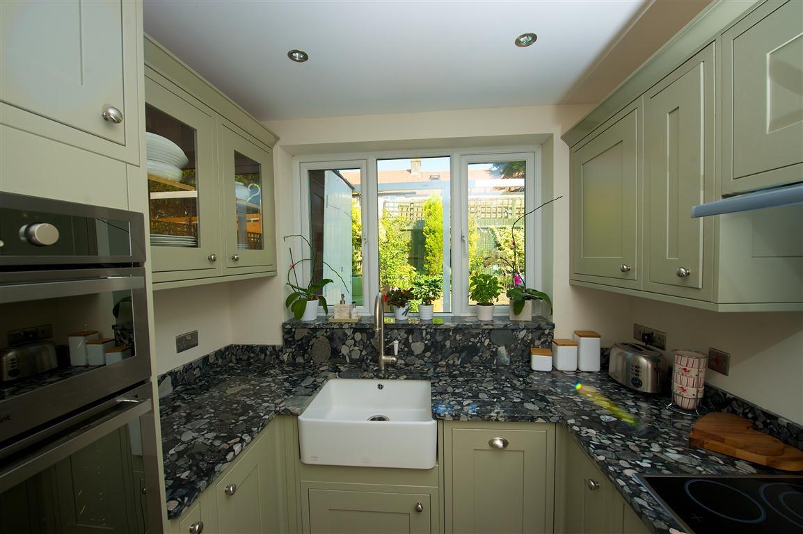 Residential kitchen with bespoke worktops